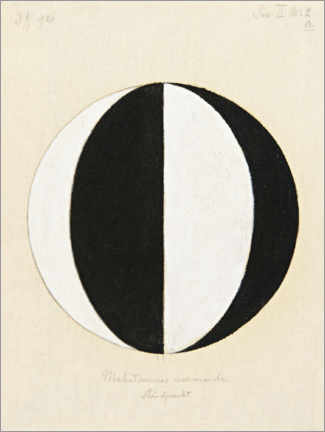 Aluminium print  The Mahatma's current point of view - Hilma af Klint
