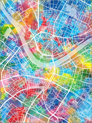Premium poster  Dresden city map - Bekim Mehovic