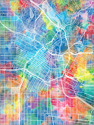 Canvas print  Los Angeles city map - Bekim Mehovic