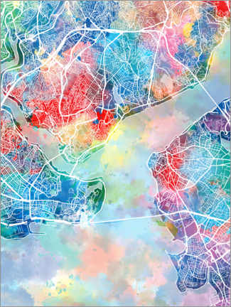 Gallery print  Istanbul city map - Bekim Mehovic