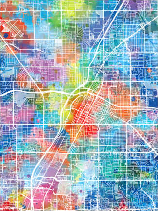 Canvas print  Las Vegas city map - Bekim Mehovic