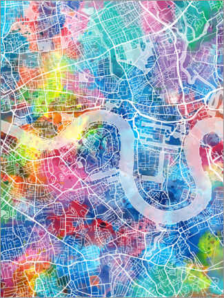 Canvas print  London city map - Bekim Mehovic