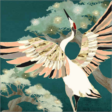 Wall sticker Golden Crane