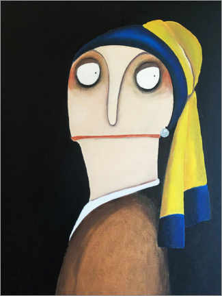 Premium poster Our aunt Bartsch with the pearl earring