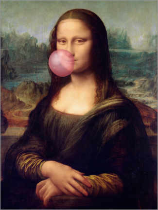 Canvas print  Mona Lisa with Bubble Gum