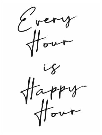 Premium poster Every hour is happy hour