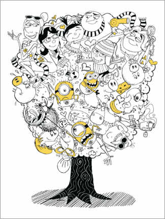 Premium poster  Despicable Me 3 - Family Tree