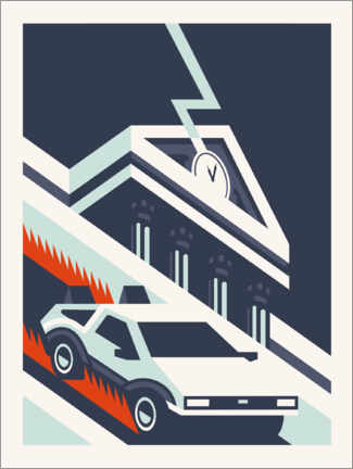 Acrylic print  Back to the future - minimal