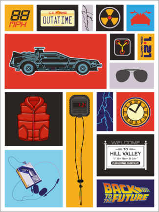 Gallery print  Back to the future Pop Art