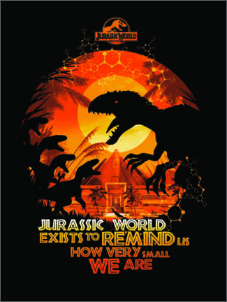 Premium poster Jurassic World - quote