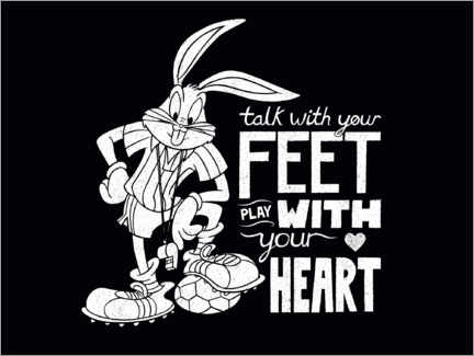 Premium poster Bugs Bunny - Soccer quote