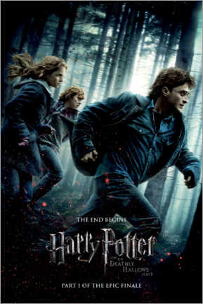Premium poster  The Deathly Hallows I - Trio