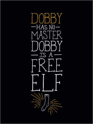 Aluminium print  Dobby has no master - Quote