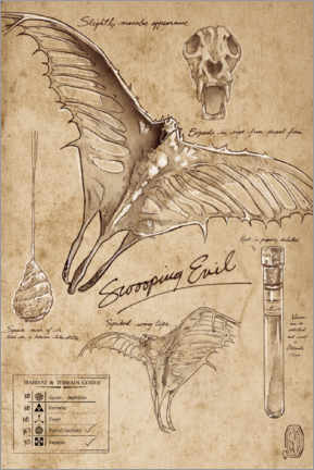 Acrylic print  Fantastic Beast - Swooping Evil