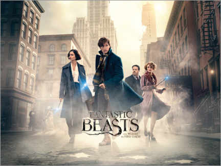 Aluminium print  Fantastic Beasts and Where to Find Them - Theatrical poster