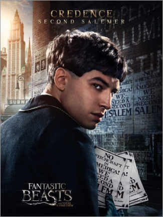 Foam board print  Fantastic Beasts and Where to Find Them - Credence Barebone