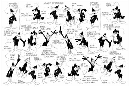 Premium poster  Daffy Duck - Expressions