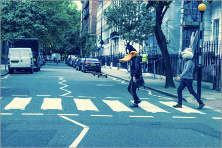 Premium poster  Bugs & Daffy - Abbey Road