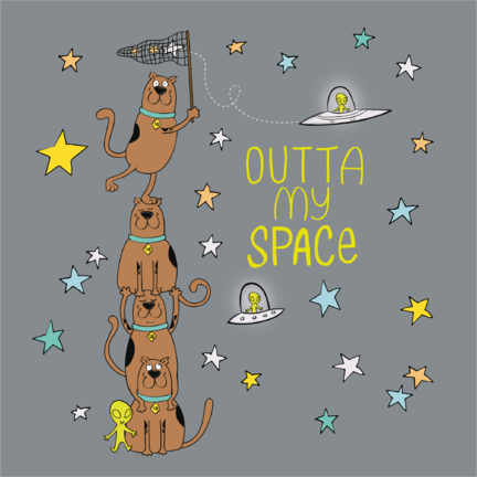 Premium poster  Scooby - Outta my space