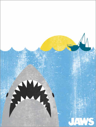 Premium poster  Jaws - Kids Art
