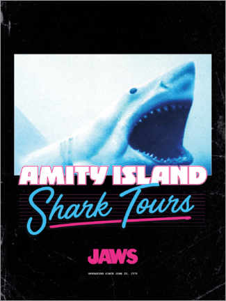 Premium poster  Shark Tours, retro