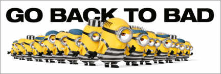 Premium poster  Minions - Back to bad