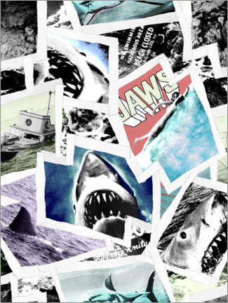 Premium poster  Jaws photo collage