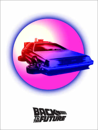 Canvas print  BTTF time travel pink