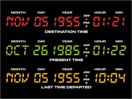 Wood print  Back to the future countdowns