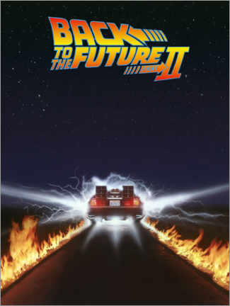 Premium poster Back to the future II - DeLorean