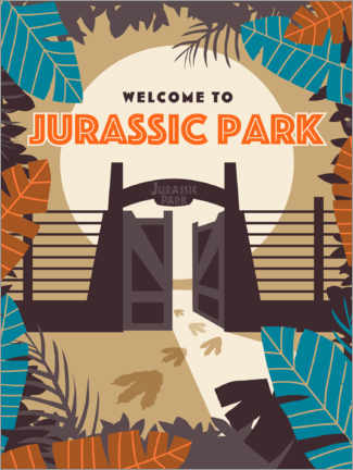 Premium poster  Jurassic Park - Jungle enclosure