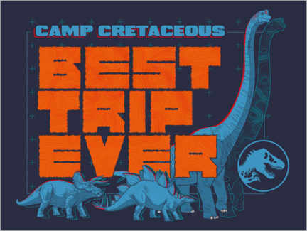 Premium poster Camp Cretaceous - Best trip ever