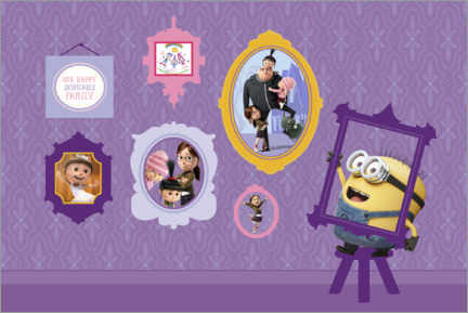Wood print  Minions picture wall
