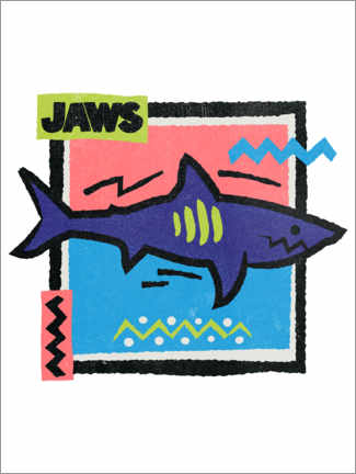 Premium poster  Jaws Pop Art