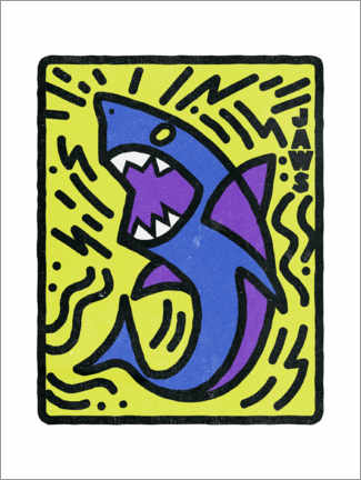 Premium poster  Jaws - Keith Haring Style