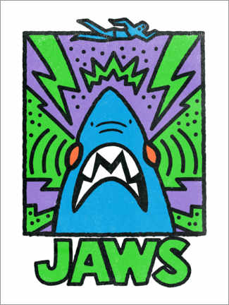 Premium poster  Jaws - Keith Haring Style II