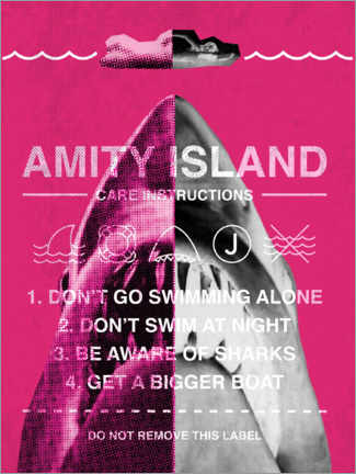 Gallery print  Amity Island - Care instructions