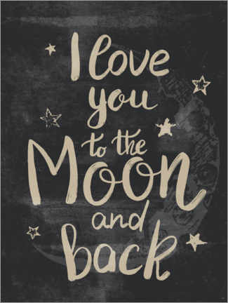 Canvas print  I love you to the moon and back - Olga Telnova