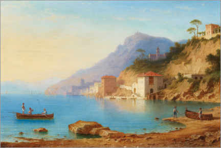 Premium poster  View of the Amalfi Coast - Carl Morgenstern