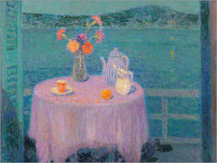 Gallery print  The purple tablecloth Villefranche-sur-Mer - Henri Le Sidaner