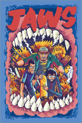 Premium poster  Jaws - Comic Team