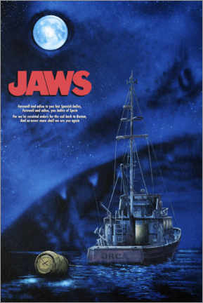 Premium poster  Jaws - Night boat
