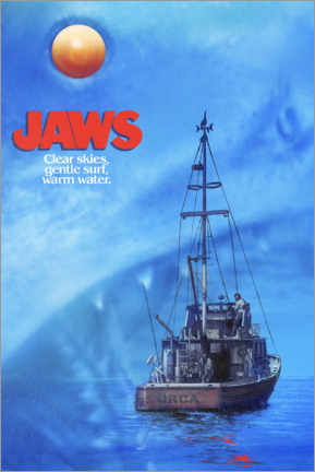 Premium poster  Jaws - Twilight boat