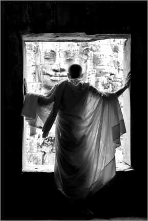 Canvas print  Monk at the window