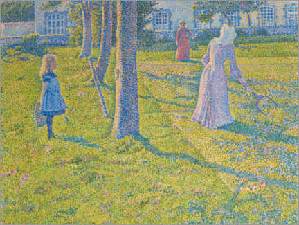Aluminium print  In Thuin, the tennis game - Theo van Rysselberghe