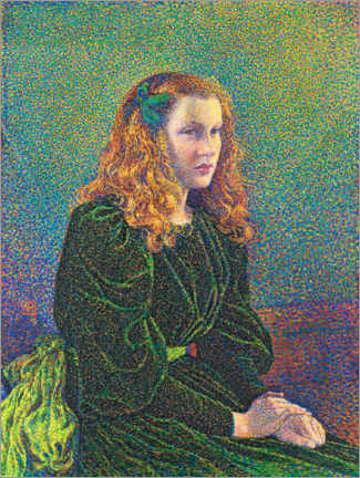 Wall sticker  Young woman in a green dress, Germaine Maréchal - Theo van Rysselberghe