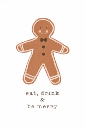 Premium poster Eat Drink & Be Merry