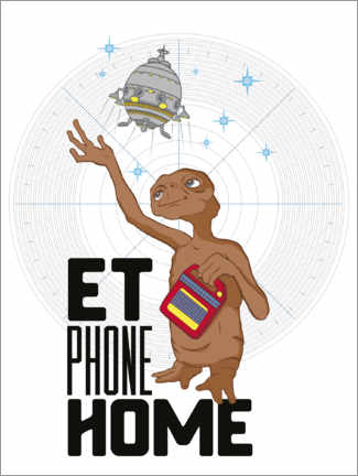Canvas print  E.T. - Phone Home
