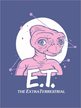 Foam board print  E.T. - Space Portrait