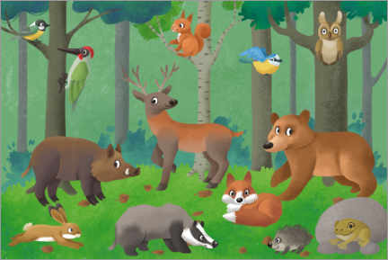 Wall sticker  Woods creatures - Leonora Camusso